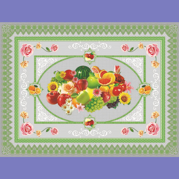 fruit design table cloth pvc sheet for furniture no woven