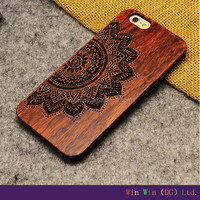 2015 Stylish wooden fashion design laser engraving smart phone case wood factory price 4.7 inch flip case for iphone 6
