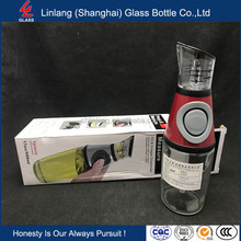 Linlang Shanghai trade assurance 250ml/500ml glass bottle measured pump dispenser