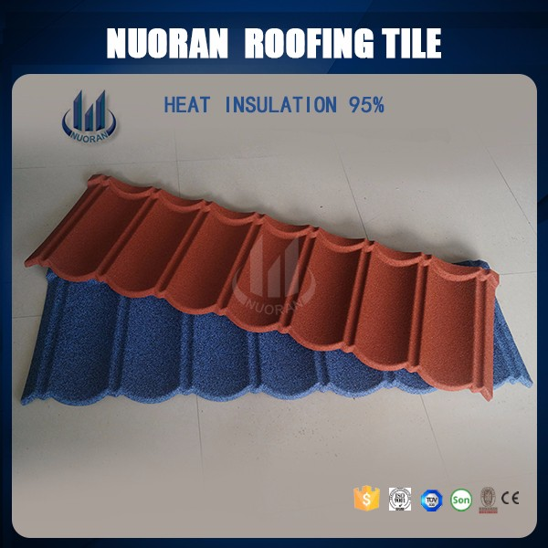 50years Warranty Modern House Design Japanese Chinese Barrel Iron Colorful Stone Coated Metal Roofing Tiles
