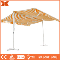 Hot Sale Best Quality two side awning double side retractable awnings