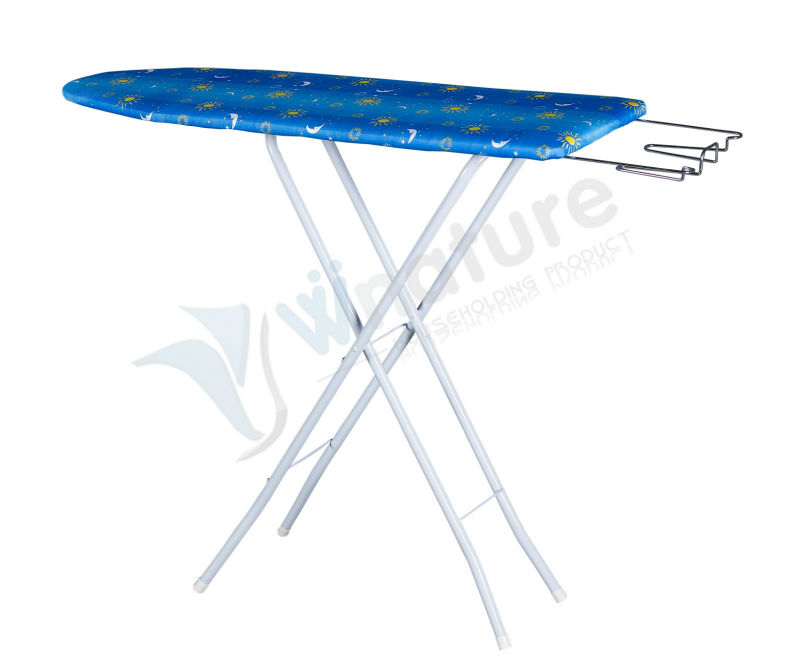 wooden ironing board iron table