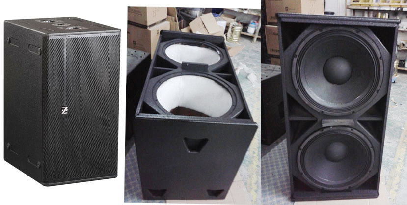 Professional speaker 2*18'' subwoofer pa speaker for sales