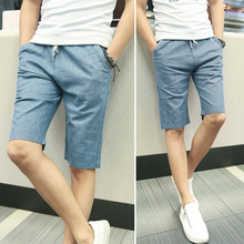 MS70874G Casual style men summer linen shorts