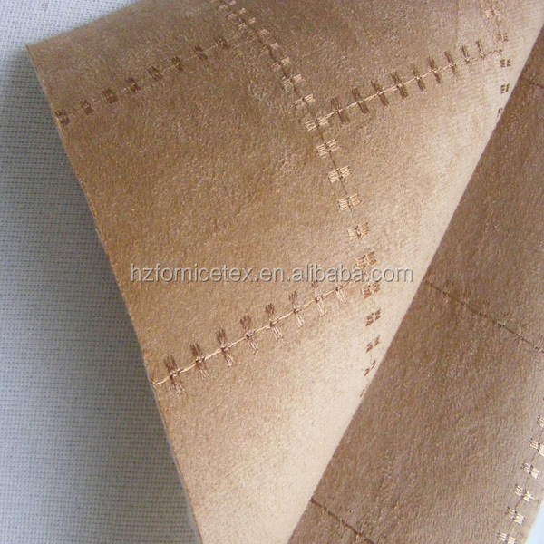 Factory supply 100%polyester suede foam backed fabric for auto seat
