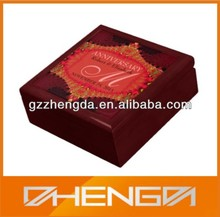 High quality custom made-in-china red wooden anniversary gift box (ZDS-SE126)