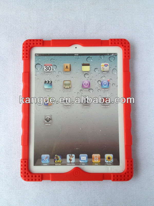 silicone shock resistant tablet heavy duty case for ipad case stylish design impact drop resistant kid proof
