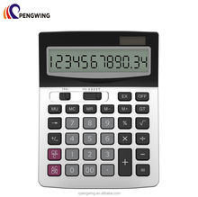 Standard Function 12 digits Big Display Calculator Dual Power Desktop Business Calculator