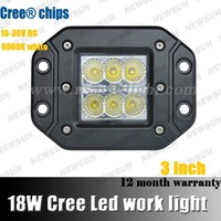 2014 New 3 inch 18W c ree LED Work Light BAR Flood spot Driving Offroad 4WD truck 6pcs*3W 18W 12v retractable led work light
