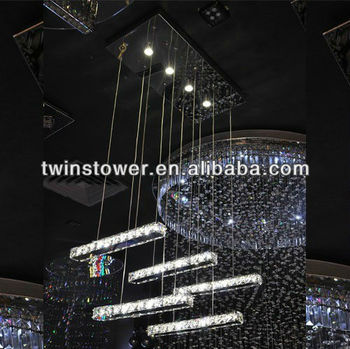 dining room led crystal pendant lamp