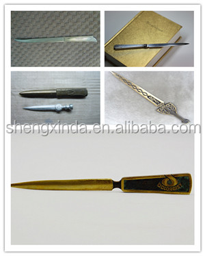Wholesale Factory Supply Chinese Style Metal Bookmark Letter Opener for Business Gifts