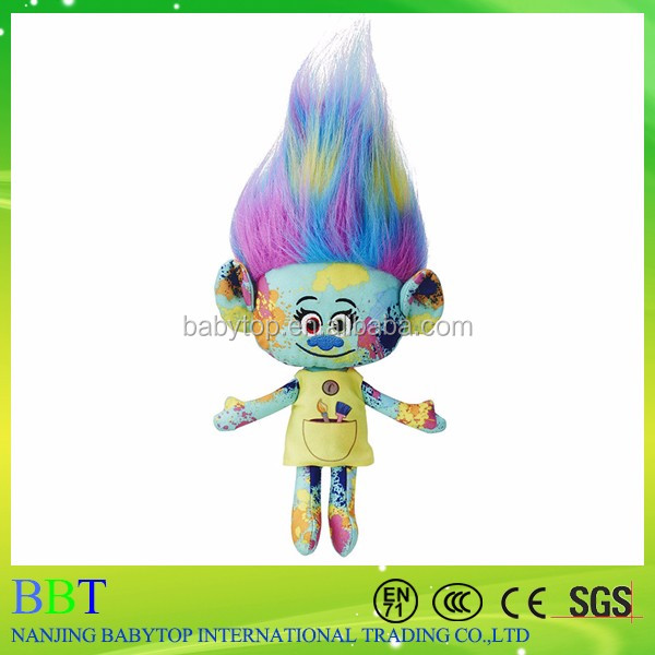 Action Figure Toy Trolls Play Set Cartoon Figure Trolls Plush doll