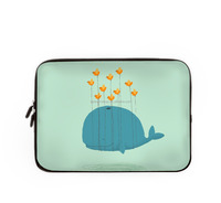 13 inch cute cartoon style laptop cases whale design laptop bags for girls