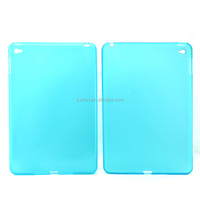 Matte transparent rubber soft gel tpu back cover case for ipad mini4