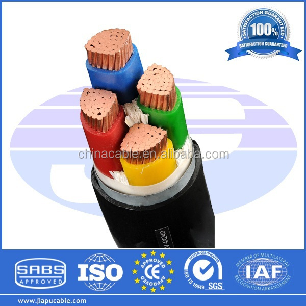 240mm XLPE 4 Core Armoured Cable 120mm2 95mm2 70mm2 50mm2 XLPE Power Cable Steel Wire/Tape Armour 2015 Best Prices