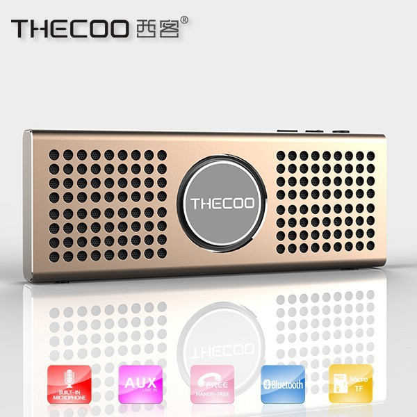 Aluminium bluetooth speaker for cassette player, built-in TF card music player