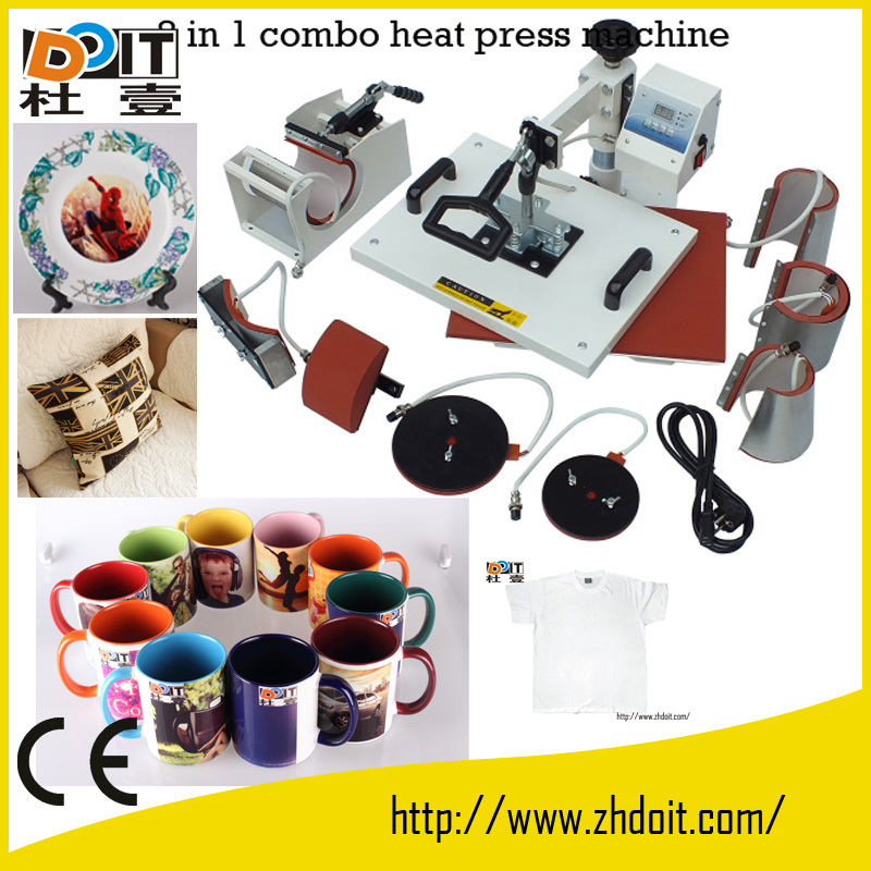 combo heat transfer machine,sublimation printer,8 in 1 prensa termica
