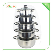 Wholesale 10pcs Royal Style Stainless Steel Cookware Set, Cookware