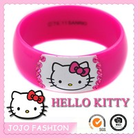 Pink Hello Kitty diamante plastic jewelry for kids