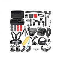 Hot!!! 50 in 1 Gopros accesories set, accesories Gopros kit for SJCAM, Xiaomi Yi Action camera accessories made in China