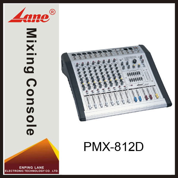 Lane PMX-812D 8 channel power dj sound mixer with amplifier