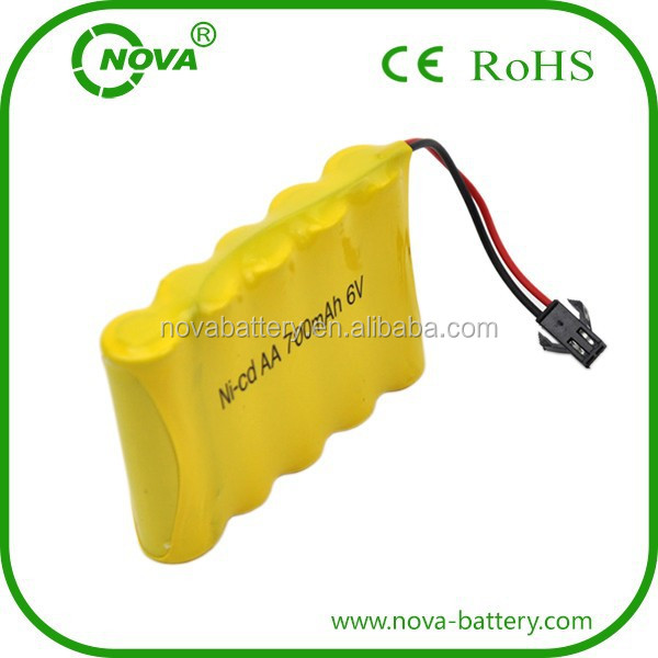 6v ni-cd aa 700mah battery 6 volt battery pack