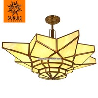 Modern light fixture 12 lights chandelier in bronze color for bedroom