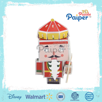 Color game 3d puzzle paper diy kit cartoon miniatures