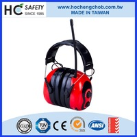HC-RA100 CE EN352-1, EN352-8 personal protective equipment electronic AM/FM ear muffs with radio