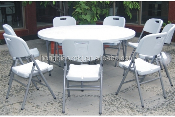 6u0027 Plastic Round Folding Tables Wohlesale,used Round Banquet Table For  Sale, Cheap Round Folding Dining Table For 10 People