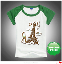 Manufacturers Custom L100Cotton Blank Tshirts for Kids 2-16 yeas old