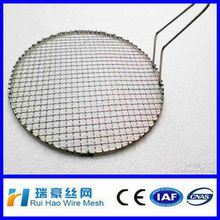 crimped wire mesh barbecue/ High quality Crimped circle barbecue net