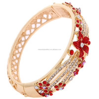 Fashion latest design women alloy metal arabic gold bracelet