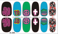 Japanese style watermark 3D Design cute green fearhers Tip Nail Art nail sticker nails Decal tools