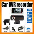 HD1080P dual lens Car dvr Camera Recorder A1