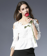 women wear 2017 summer lace embroidery slip slim fit cotton shirt roupas femininas fashion women lace top