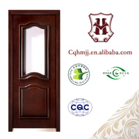 Solid Wood Glass Bedroom Door, Wood Panel Door Design