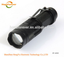 Warranty 1 Year SK68 3 Mode Q5 Led Rechargeable 14500 Battery 1 AA Zoom Flashlight