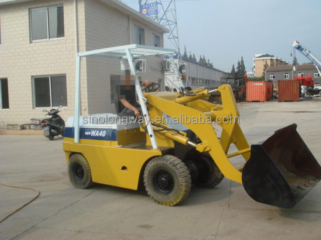 Mini Wheel Loader, Hot sale in Africa, Used Japanese Brand Wheel Loader WA40 for sale with reasonable price