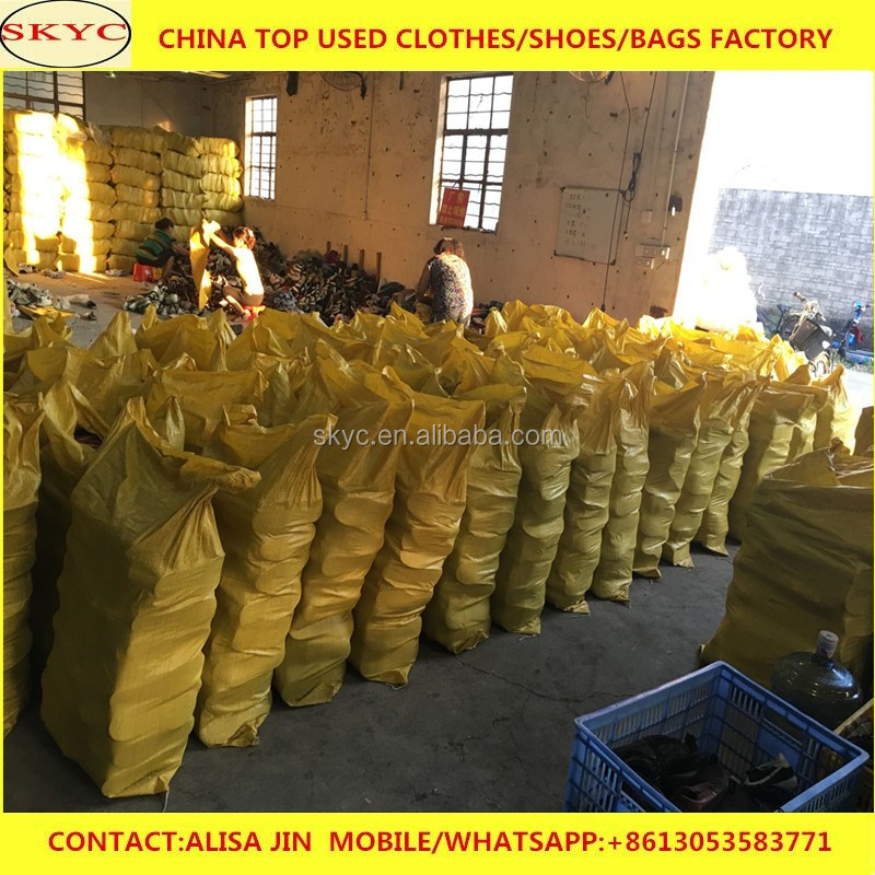 Africa used shoes buyers import stock sorted cheap used shoes in bales from Guangzhou warehhouse