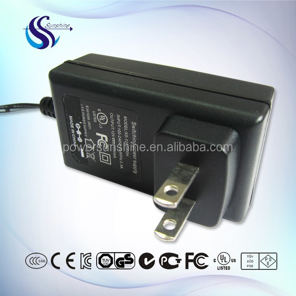 12V1.5A Wall-mounted power supply US plug switching power AC/DC adapter