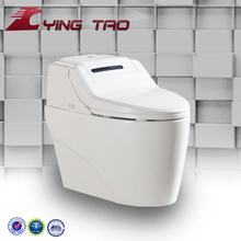 China bathroom floor mounted intelligent siphonic one piece toilet