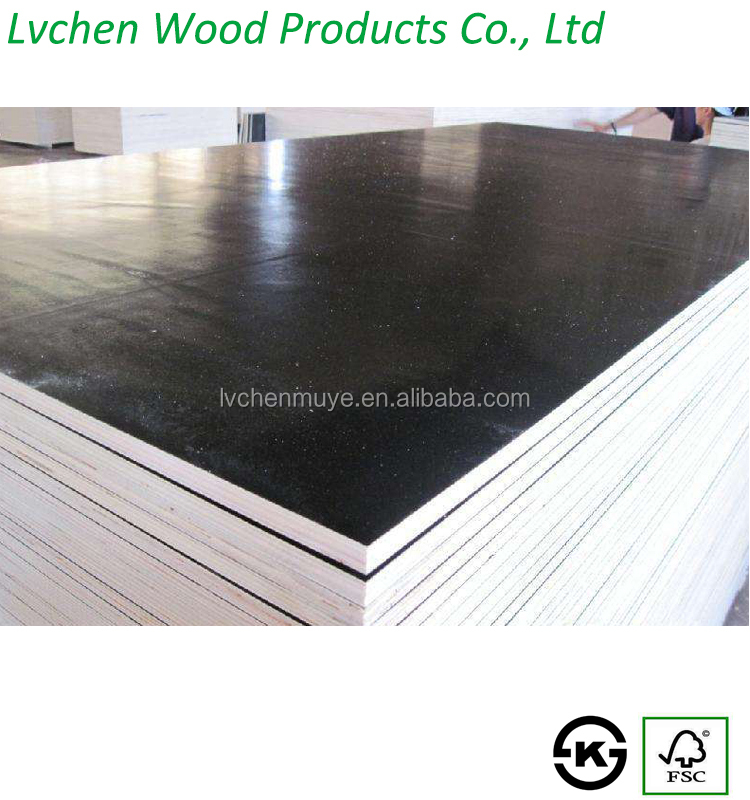 Factory direct supplies black/brown film faced concrete formwork plywood for construction