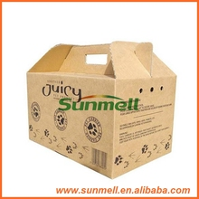 custom design pet carrier cardboard box with carry handle