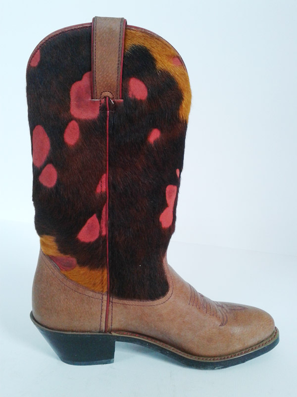 Fashion Fur Cowgirl Cowboy Boots