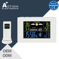 radio controlled weather station alarm clock with phone charger