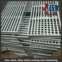 Drainage gutter with stainless steel grating, swimming pool gutter grating,drain gutter cover