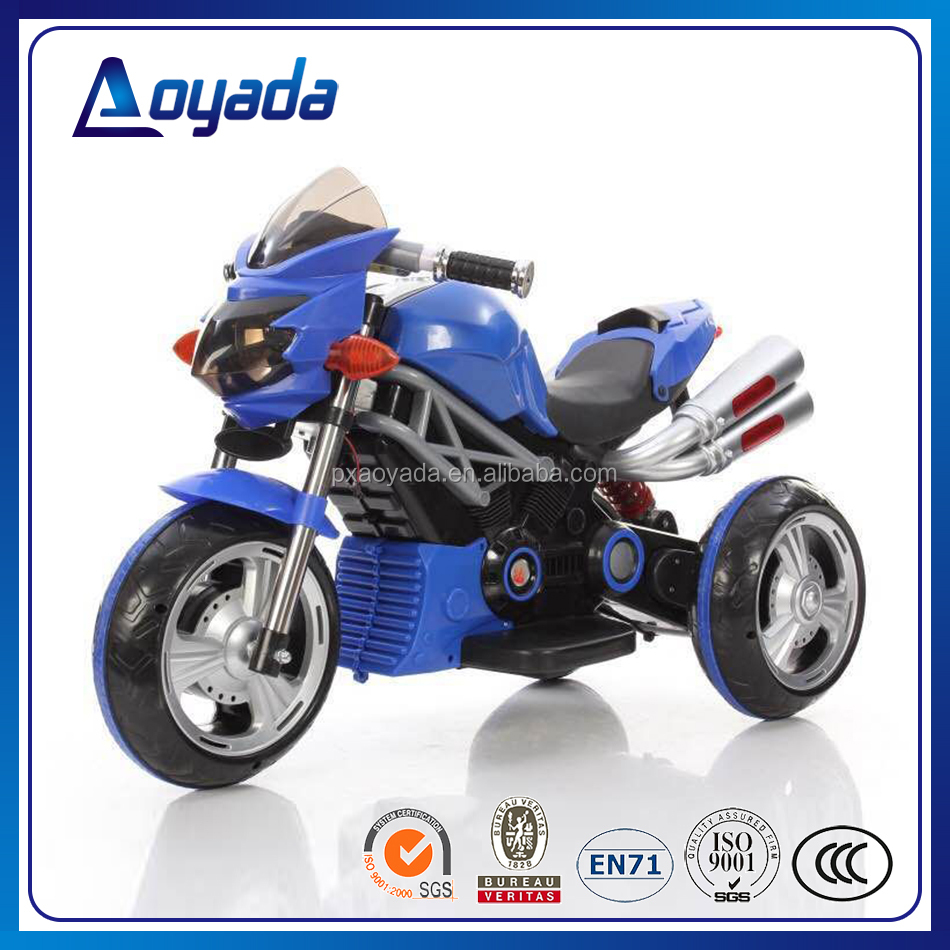 Factory wholesale cool kids electric motorcycle with 2 motors/ kids battery motorcycle / child tricycle motorbike for sale