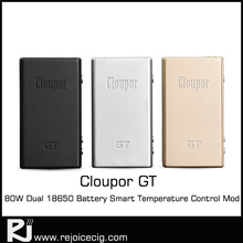 Newest! Best Selling Products E Cig Mods Dual 18650 Battery 80W Cloupor GT