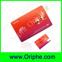 china market usb flash drive promotional super thin credit card usb flash drive 64MB to 128GB